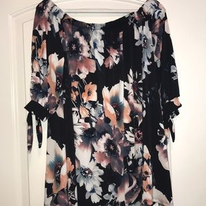 Pinkblush off the shoulder maternity top NWT